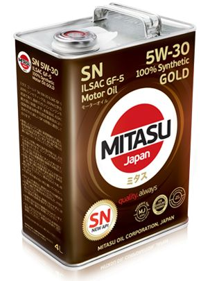 MITASU 5W-30 4L GOLD SN/ILSAC GF-5/DEXOS 1