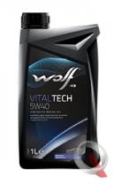 Wolf  VitalTech 5W-40 1л VW 502.00/505.00 MB 229.3 BMW LL-01 PORSCHE A40 OPEL GM-LL-B-025 RENAULT RN 0710, RN 0700 PSA B71 2296, API SN, SM/CF ACEA A3/B4-10