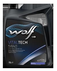 Wolf VitalTech 5W-40 5л VW 502.00/505.00 MB 229.3 BMW LL-01 PORSCHE A40 OPEL GM-LL-B-025 RENAULT RN 0710, RN 0700 PSA B71 2296, API SN, SM/CF ACEA A3/B4-10