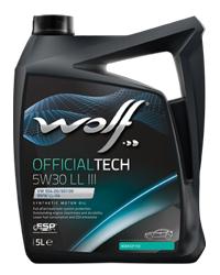 WOLF OFFICIALTECH 5W30 LL III 4L MB 229.51 VW 504.00/507.00 BMW LONGLIFE-04 PORSCHE C30, ACEA C3