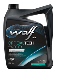 WOLF OFFICIALTECH 5W30 C3 4л  GM DEXOS 2 License n° RB2A0308012 MB 229.51 VW 502.00/505.00 VW 505.01 BMW LONGLIFE-04, API SM/CF ACEA A3/B4, C3