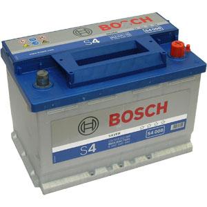 Аккумулятор BOSCH S4 SILVER 12V 74AH 680A ETN 0(R+) B13