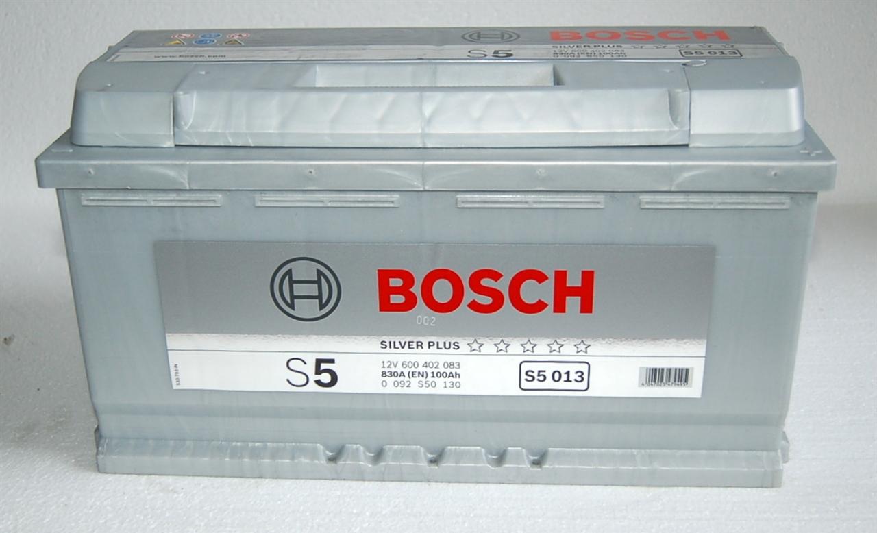 Аккумулятор BOSCH S5 SILVER PLUS 12V 100AH 830A ETN 0(R+) B13