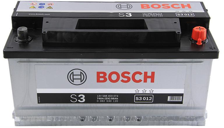 Аккумулятор BOSCH S3 12V 88AH 740A ETN 0(R+) B13