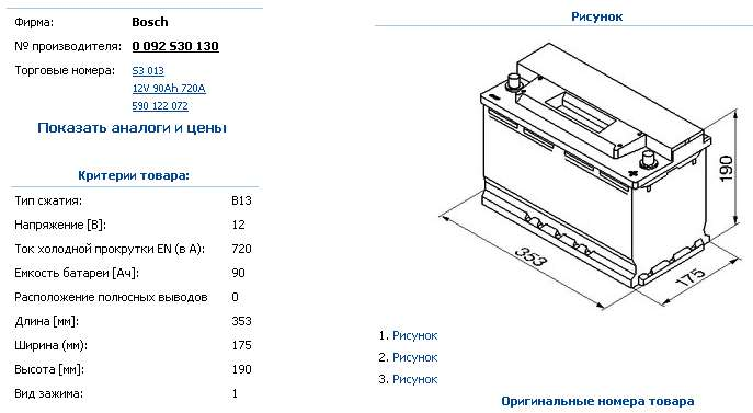 Аккумулятор BOSCH S3 12V 90AH 720A ETN 0(R+) B13