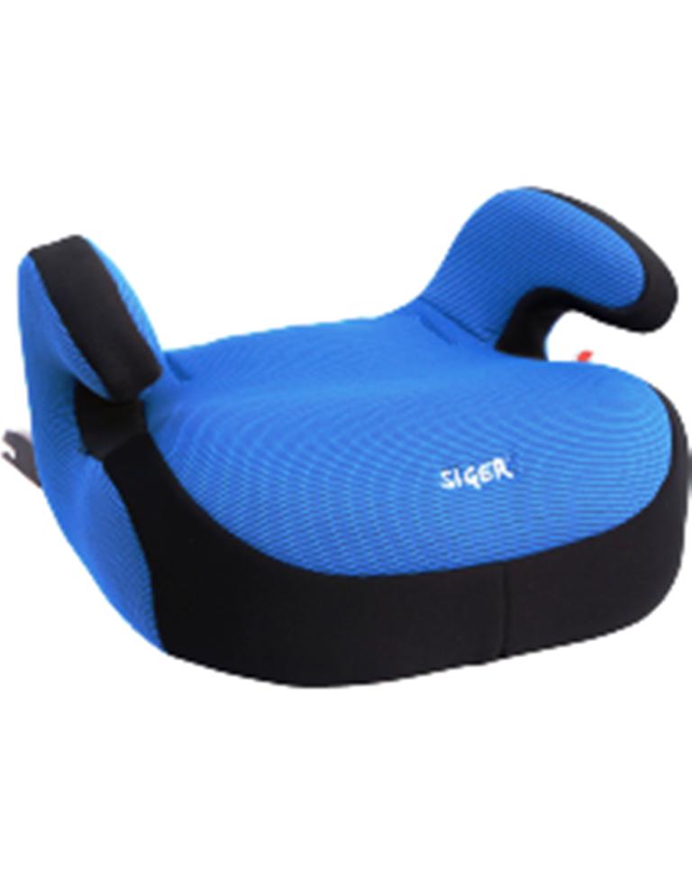 Детское автомобильное кресло без спинки  БУСТЕР груп.3 (22-36кг, от 6 до 12 лет) (синий)