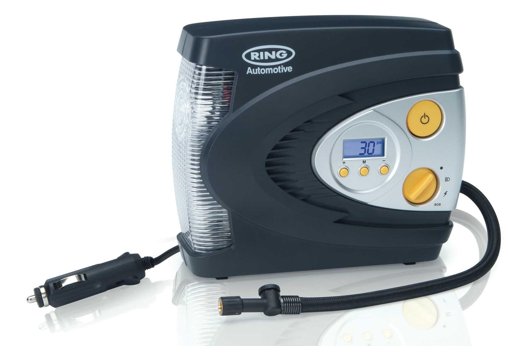 Компрессор RING  RAC630,  цифровой с подсветкой макс давл. 7 Атм., 28-30L/min, 12V