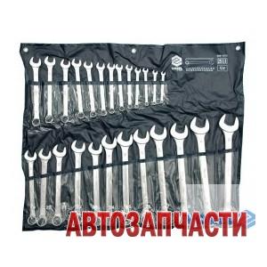 Набор ключей комбинированных VOREL, 25 пр: 6-28, 30, 32 мм, на полотне
