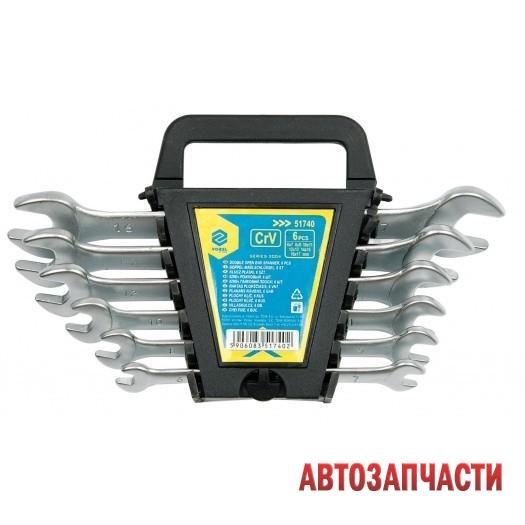 Набор ключей рожковых, VOREL  6 пр: 6x7, 8x9, 10x11, 12x13, 14x15, 16x17 мм, в пласт. держателе