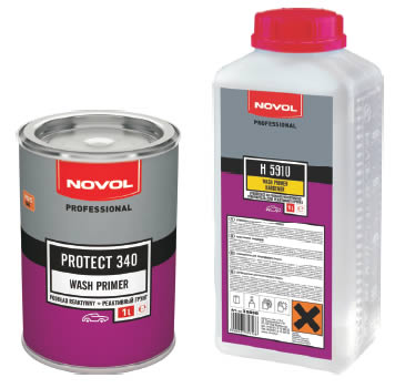 NOVOL PROTECT 340 - РЕАКТИВНЫЙ ГРУНТ - WASH PRIMER 0.2+0.2л.