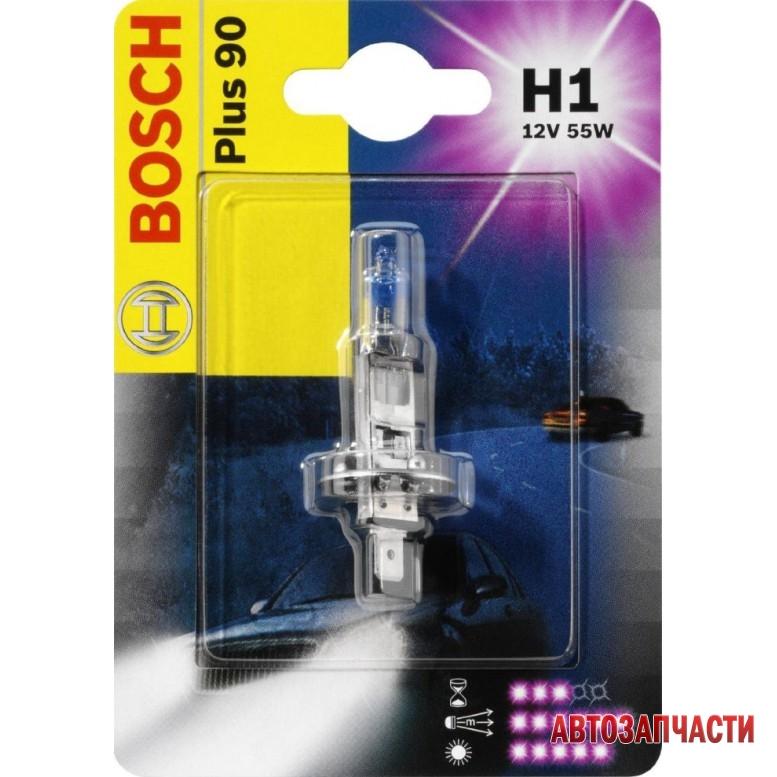 Автолампа BOSCH H1 Plus90 (12V 55W P14,5s)