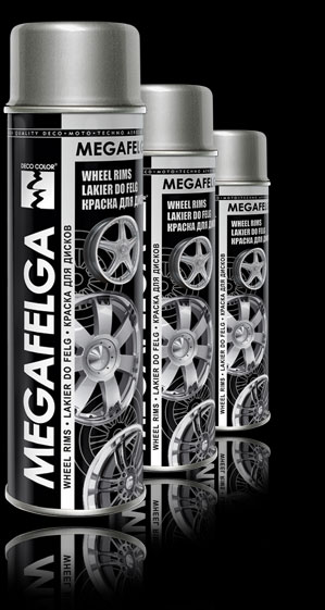 Акриловая краска для дисков MEGAFELGA DECO COLOR 500мл. Черный блеск.