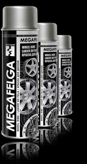 Акриловая краска для дисков MEGAFELGA DECO COLOR 500мл. Черный сатин.