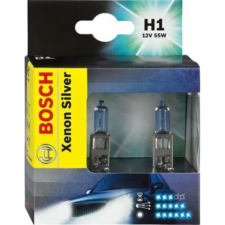 Комплект ламп BOSCH H1 Xenon Silver