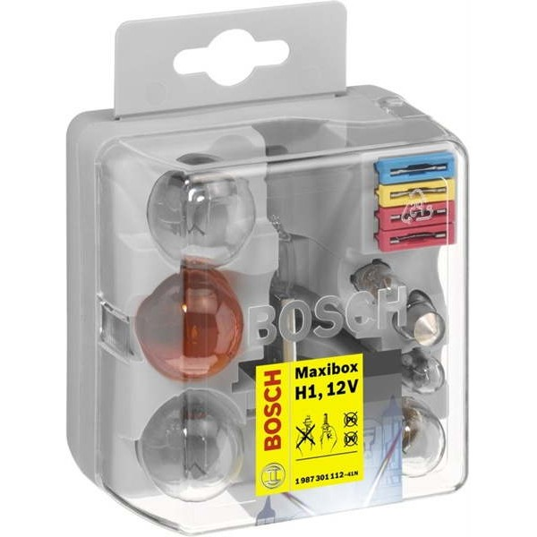 Комплект автоламп BOSCH  H1 Maxibox (P21W, PY21W, R5W, T4W, P21/5W, W5W, C5W, 2x10A, 1x15A, 1x20A)