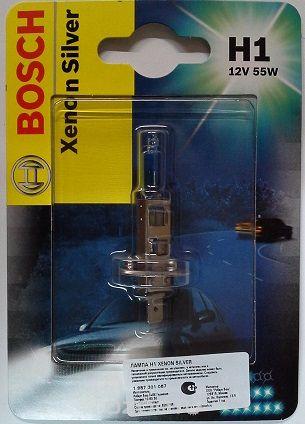 Автолампа BOSCH H1 Xenon Silver (12V 55W)