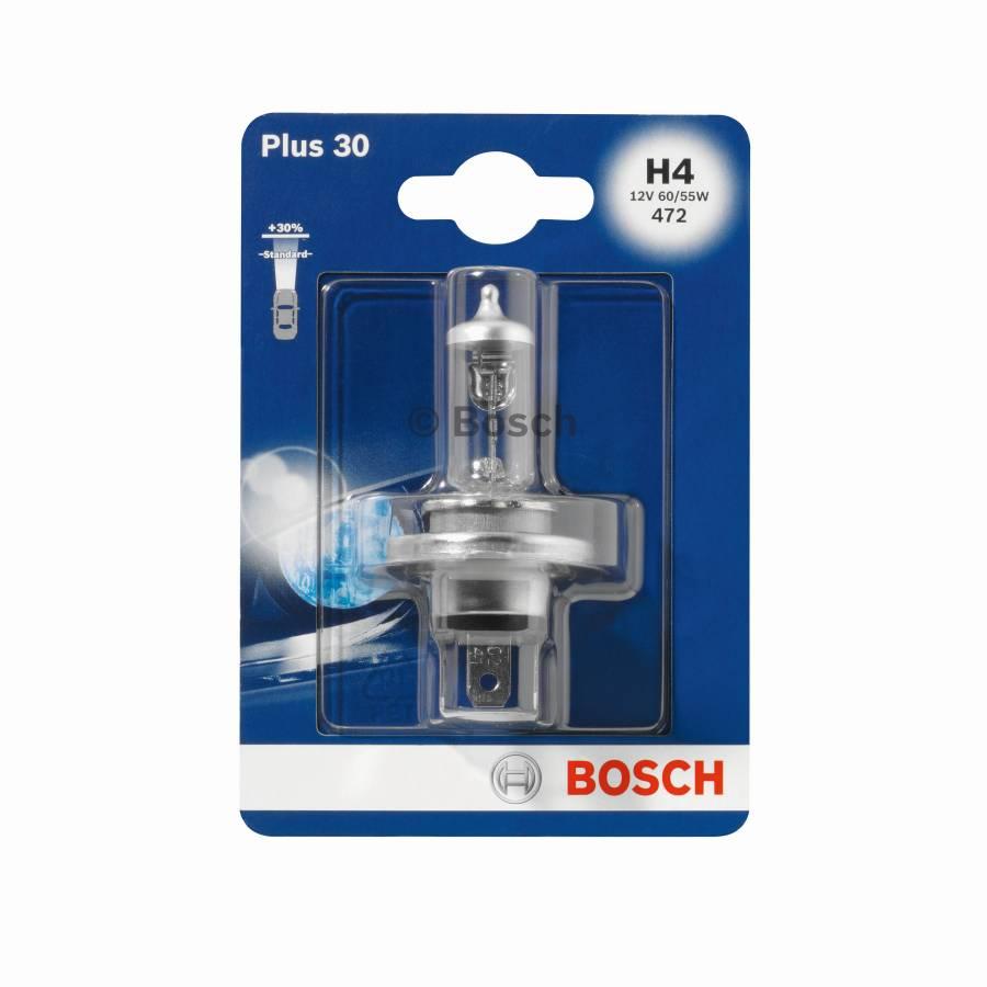 Автолампа BOSCH H4 Plus 30 (12V SB)