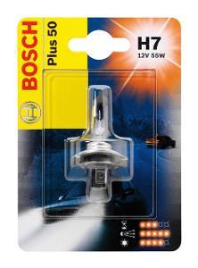 Автолампа BOSCH  H7 Plus 50 (12V 55W)