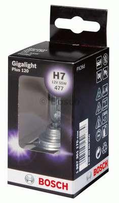 Автолампа BOSCH H7 Gigalight Plus 120 (12V 55W, PX26d)