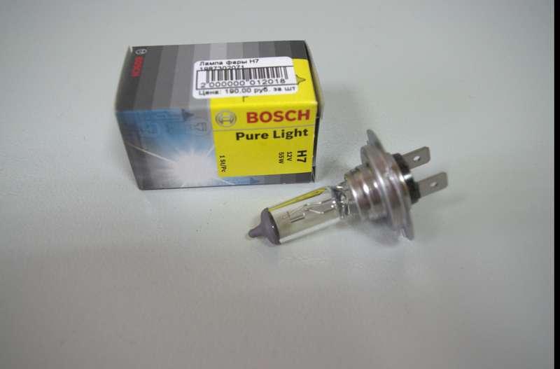 Автолампа BOSCH H7 Pure Light (12V 55W)