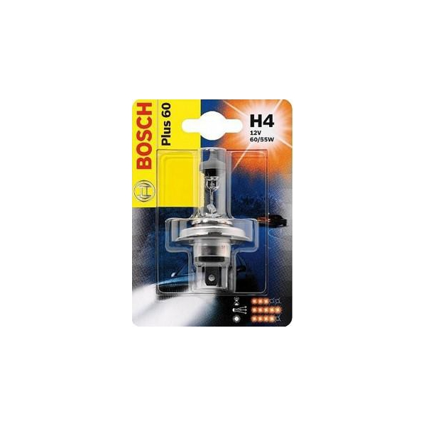 Автолампа BOSCH H4 Plus 60 (60/55W)