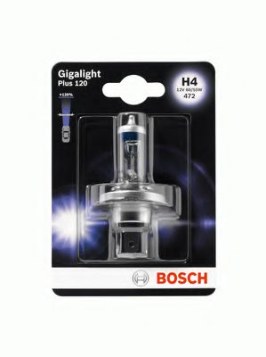 Автолампа BOSCH H4 Gigalight 120 (12V 60/55W, P43t)