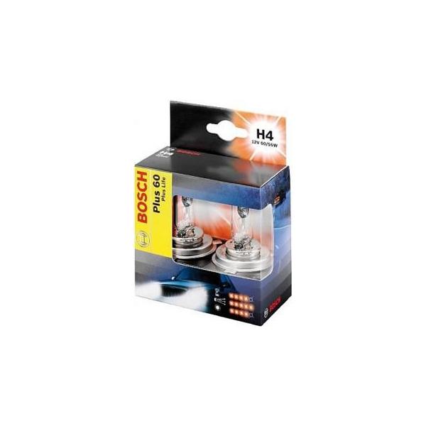 Комплект ламп BOSCH H4 Extralife Plus 60 (12V 60/55W)