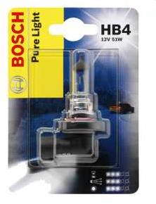 Автолампа BOSCH HB4  Pure Light (12V 51W P22d)