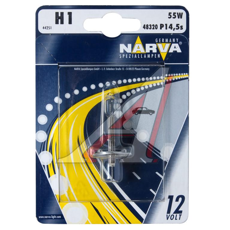 Автолампа NARVA H1 (12V 55W P14,5S) блистер