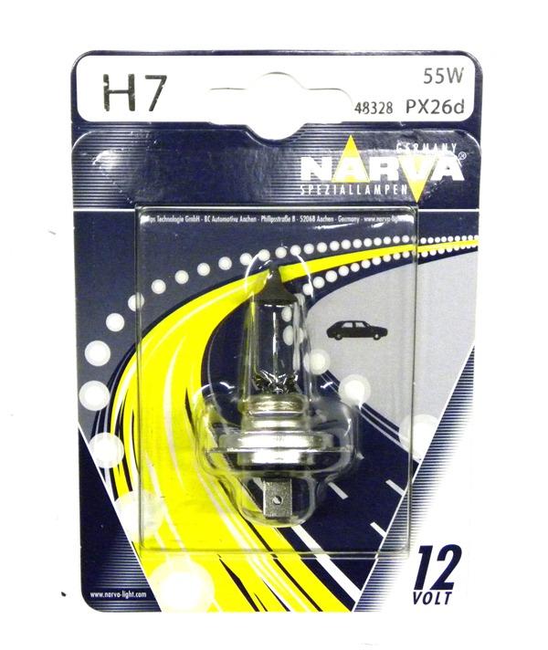 Автолампа NARVA H7 (12V 55W PX26D) блистер