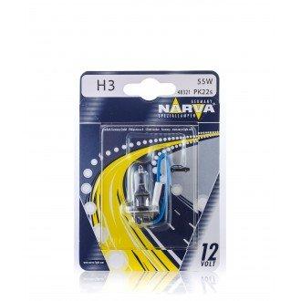 Автолампа NARVA H3 (12V 55W PK22S) блистер