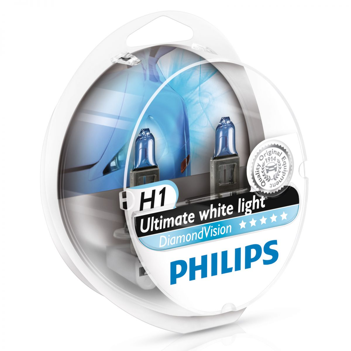 Автолампа Philips H1 Diamond Vision (12V, 55W,  P14,5s)
