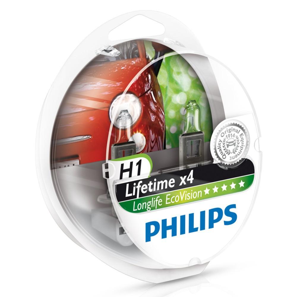 Автолампа Philips H1 Eco Vision +10% (12V, 55W, P14,5s)