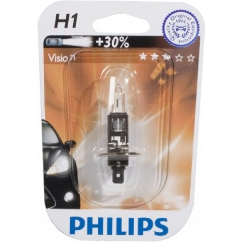 Автолампа Philips H1 Premium +30% (12V 55W, P14,5s)