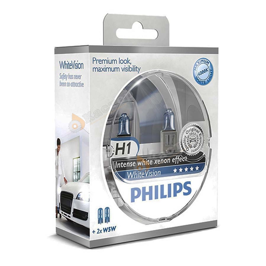 Автолампа Philips H1 White Vision +60% (12V 55W P14,5s)