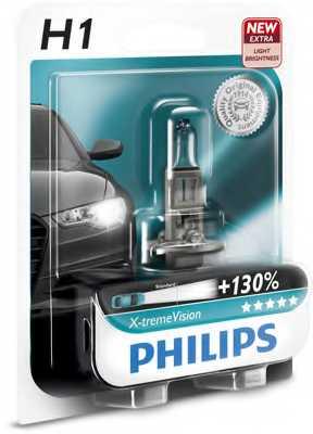 Автолампа Philips H1 X-treme Vision +130% (12V 55W P14,5s)