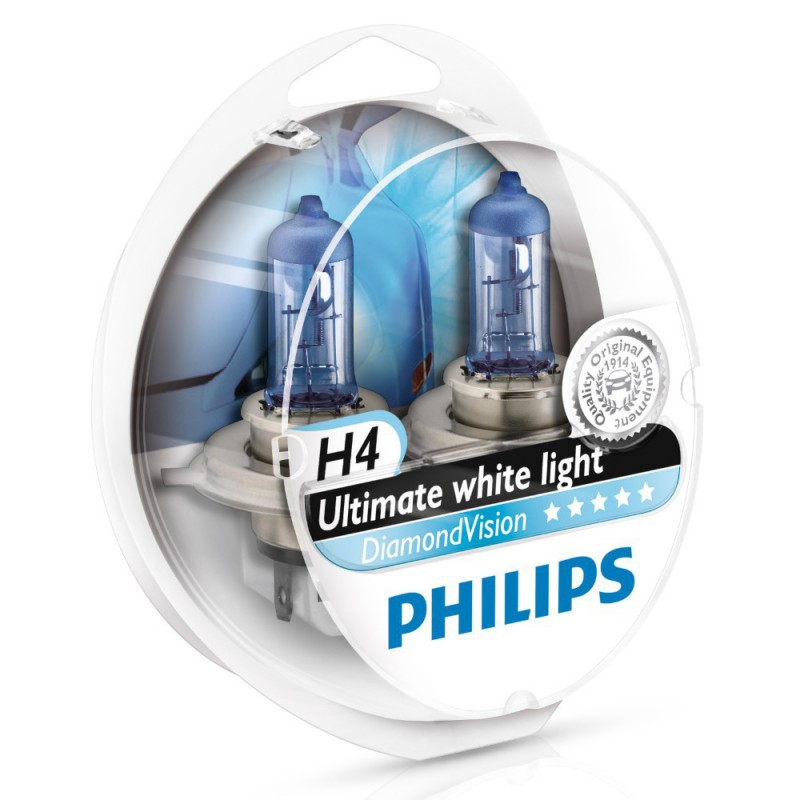 Автолампа Philips H4 Diamond Vision (12V 60/55W P43t-38)