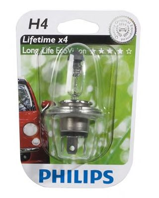 Автолампа Philips H4 Longer Life Eco Vision (12V 60/55W, P43t-38)