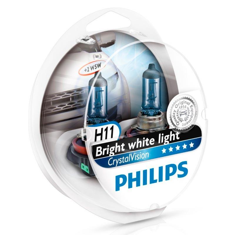 Автолампа Philips H11 Cristal Vision (W5W, 12V 55W, PGJ19-2)