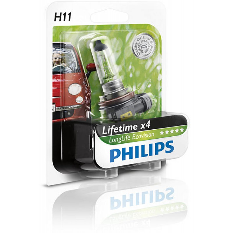 Автолампа Philips H11 Long Life Eco Vision (12V 55W)