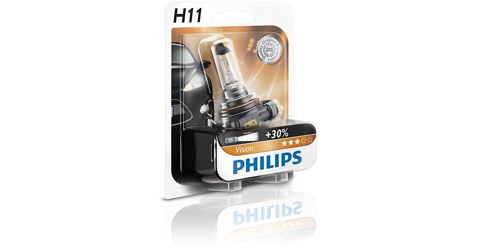 Автолампа Philips H11 Vision (12V 55W PGJ19-2)