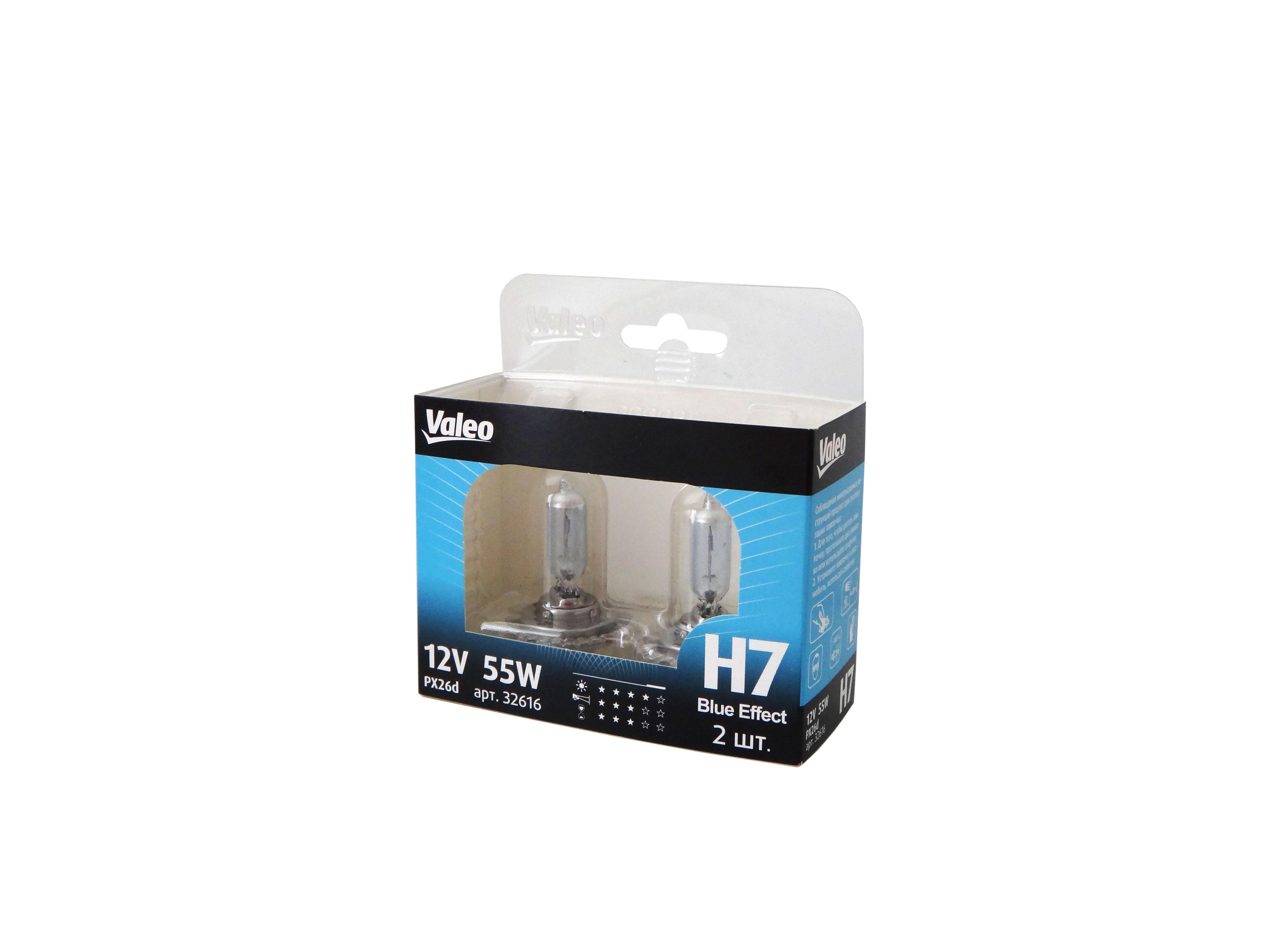 Комплект ламп Valeo Н7 Blue Effect (12V 55W PX26d)