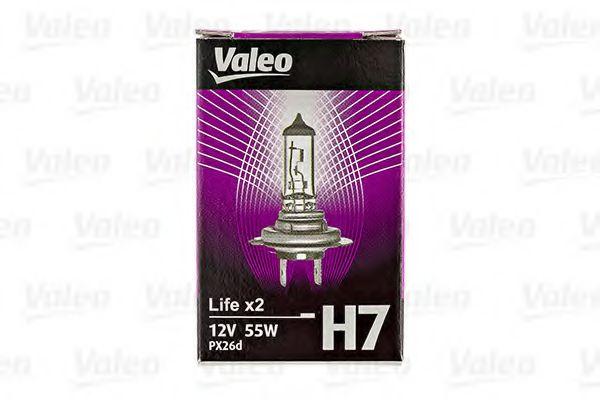 Автолампа Valeo Н7 Life x2 (12V 55W PX26d)