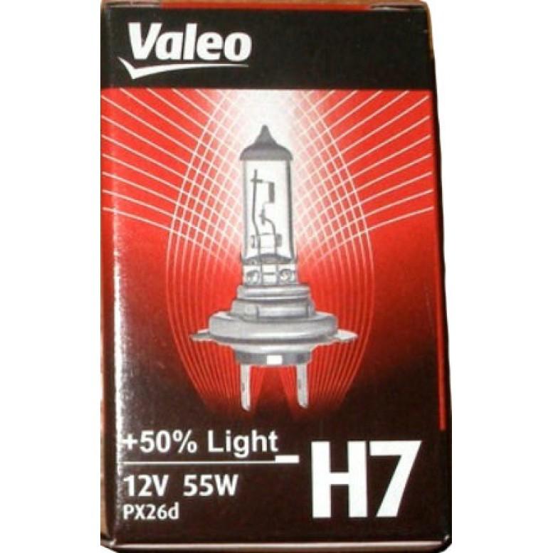 Автолампа Valeo Н7 Light +50% (12V 55W PX26d)