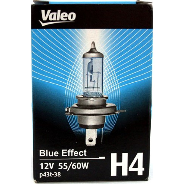 Автолампа Valeo Н4 Blue Effect (12V 60/55W P43t-38)