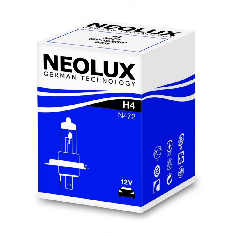 Автолампа Neolux H4 Standart (12V 60/55W P43t)