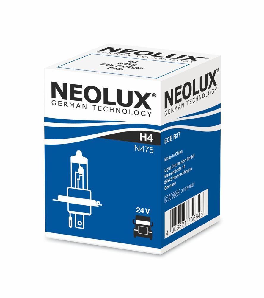 Автолампа Neolux H4 Standart (24V 75/70W P43t)