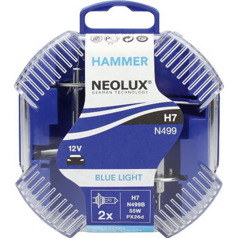 Комплект ламп Neolux H7 Blue Light (2V 55W PX26d)
