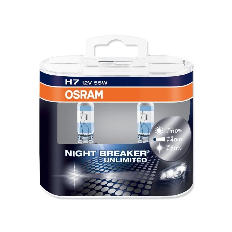 Комплект ламп OSRAM H7 NIGHT BREAKER UNLIMITED 110% (55W 12V PX26D)