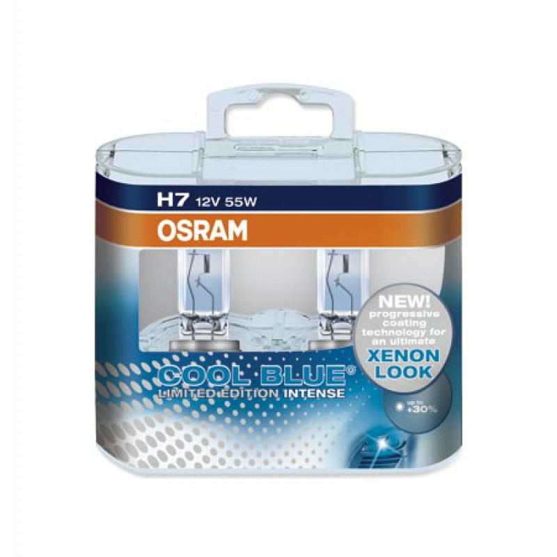 Комплект ламп OSRAM H7 COOL BLUE INTENSE Limited Edition 30% (12V 55W PX26D)